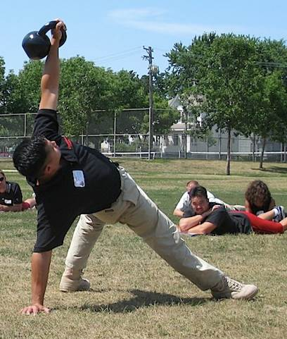 The Getup is a good idea to clear shoulder stability before attacking shoulder strength and power.
