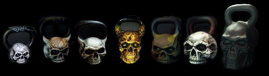I'll tell you what. I don't like these kettlebells not one single bit. Skulls and s---.